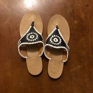 Navy & White Jack Rogers Sandals